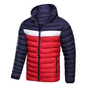 Image 2 - 2020 חדש גברים של חורף מעיל מעיל ברדס אופנה Parka גברים לעבות מעיל באיכות גבוהה זכר למעלה Slim Fit מותג איש חם מעילים
