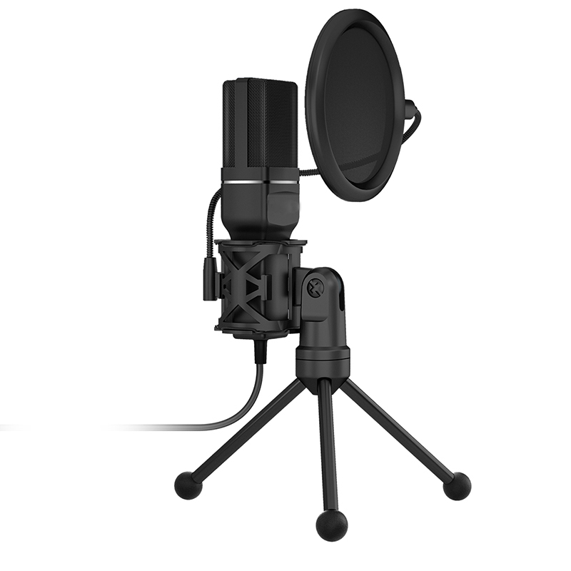 XOAKOA SF-777 Computer Condenser Microphone For Game/Recording/Musical Instruments/Interview With Anti-spray Bracket USB Mic