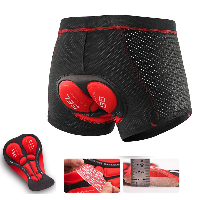 X-Tiger 2019 Upgrade Cycling Shorts Cycling Underwear Pro 5D Gel Pad Shockproof