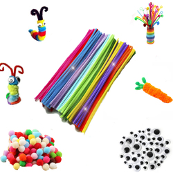 30/50/100pcs Multicolour Chenille Stems Pipe Cleaners Handmade Diy Art Crafts Material Kids Creativity Handicraft Children Toys