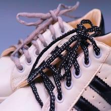 Уникальные овальные шнурки шириной 6 мм, одежда для мужчин и женщин, кроссовки, сезон осень-зима 2021, шнурки унисекс черного и серого цвета для...