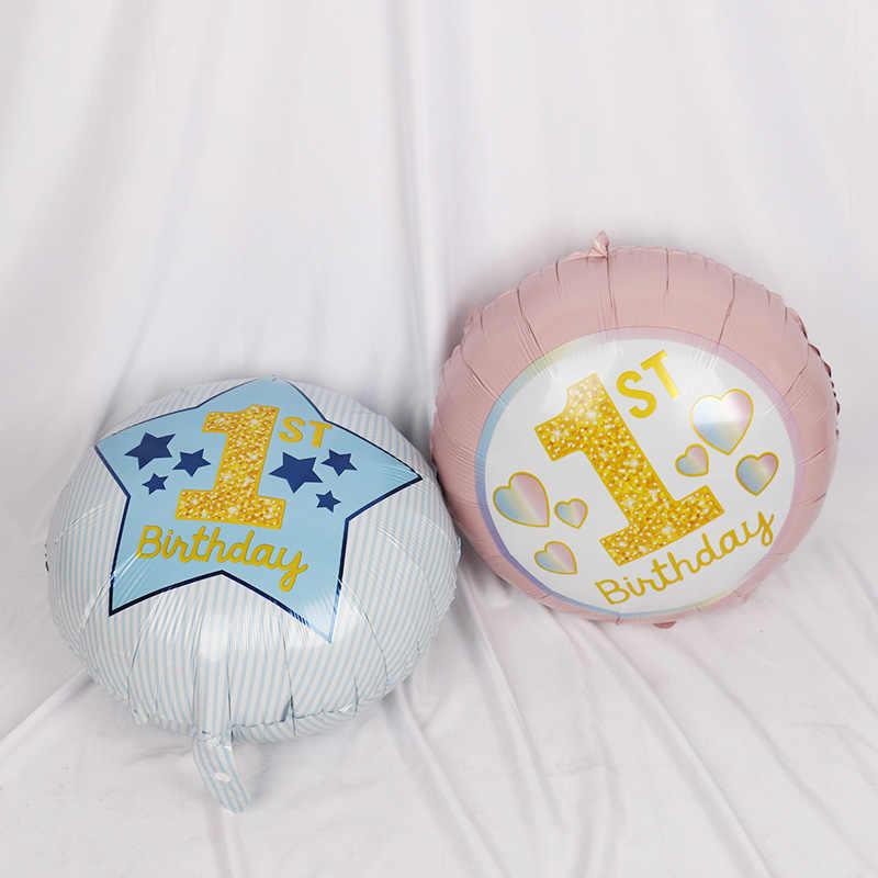 1pc balões de hélio Decorações Da Festa de Aniversário Do Chuveiro de Bebê recém nascido crianças Seu UM Menino Menina Letras globos Decorativos DIY bolas de ar