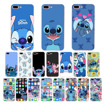 HOUSTMUST cute cartoon Lilo Stitch funny design phone cover case for iphone 6 7 6s 8 plus xr x xs max 5 5s se soft shell Coque