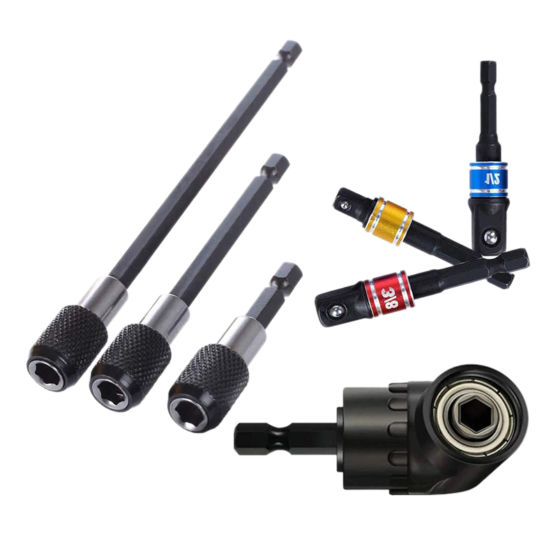 """3X Magnetic Extend Socket Extension 1//4/"""" Power Hex Drill Bit Screwdriver Holders"""