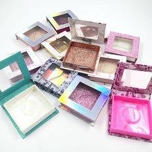 Caja de embalaje de pestañas falsas al por mayor, 10/20/50 Uds., cajas de pestañas de visón 3d, tiras de diamantes falsos, Funda magnética, vacío