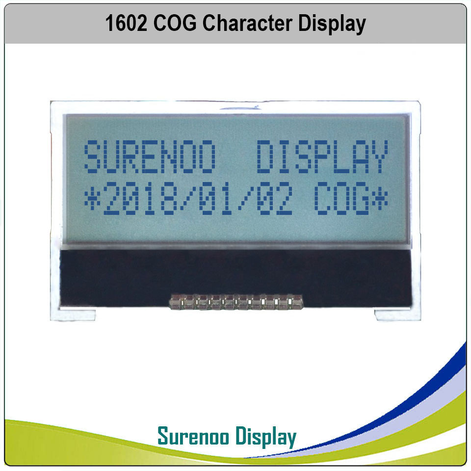 162 16X2 1602 COG ST7032S Serial SPI Character LCD Module Display Screen LCM FSTN Postive With White LED Backlight