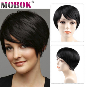 Парики из человеческих волос, короткие бразильские прямые парики, Короткие парики из человеческих волос для чернокожих женщин, бесплатная ...