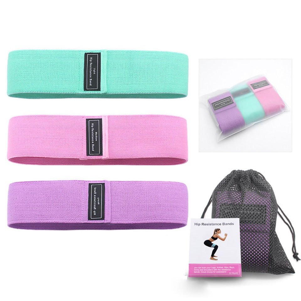 Fitness Booty Resistance Bands Workout Fabric Loop Band Butt Exercise Bands For Hip Legs Thigh Glutes Non Slip Deep Squat Bands
