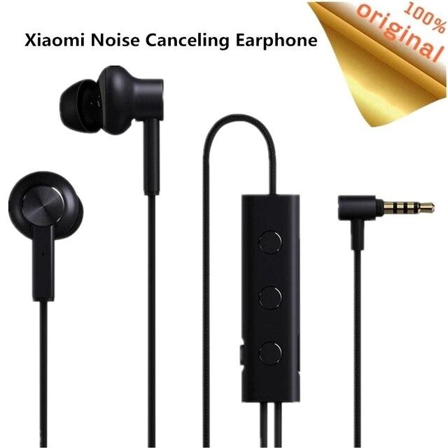 Oryginalne słuchawki Xiaomi ANC aktywna redukcja szumów w uchu 3.5mm typ C interfejs Mic Line Volum Control dla Xiaomi A1 Redmi 4X
