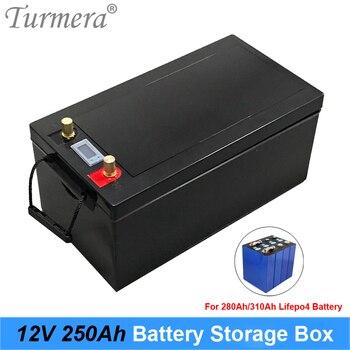 Turmera-caja de almacenamiento de batería Lifepo4, 12V, 280Ah, 310Ah, 3,2 V, con indicador LCD, a sistema de energía Solar o fuente de alimentación incontinua 1