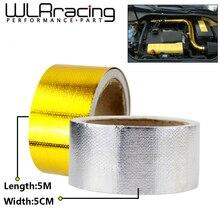 """WLR RACING-"""" x 5 метров алюминиевая усиленная лента с клейкой основой термозащитная пленка для bmw e46 WLR1613"""
