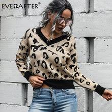 Женский базовый свитер everafter Леопардовый вязаный тонкий