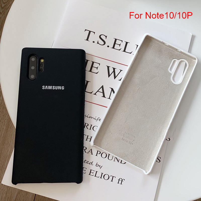 samsung galaxy s8 note 10 plus liquid silicone case original silky soft finish back protective cover for note10 pro with logo
