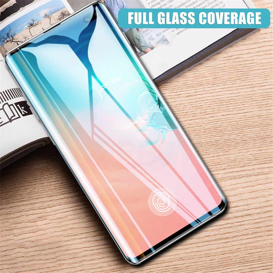 מלא כיסוי מסך מגן עבור סמסונג גלקסי S8 S9 S10 בתוספת S10E מזג זכוכית לסמסונג הערה 8 9 S7 קצה מגן זכוכית
