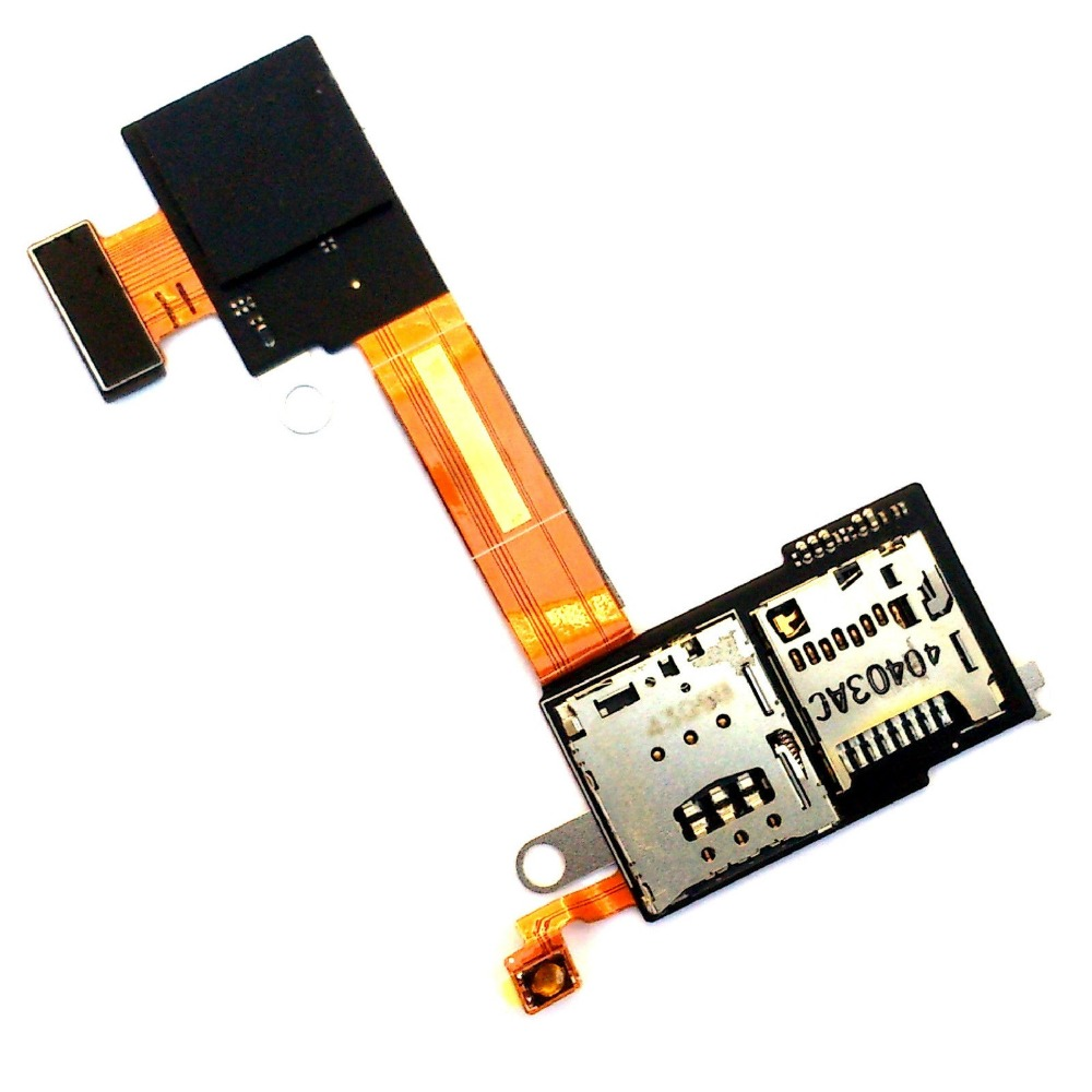 SIM And Micro SD Memory Card Tray Holder Contact Flex Cable For Sony Xperia M2 E2303 D2305 D2306