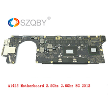 Laptop Motherboard A1425 For MacBook Retina i5 2.5GHZ 2.6GHz 8G Logic board 2012 Year