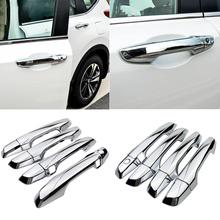 Dla Honda CR-V CRV 2017 2018 2019 2020 samochodów stylizacji ABS chromowana klamka ochronna obudowa wykończenia dekoracyjne akcesoria tanie tanio A_Space_Tuning CN (pochodzenie) High Quality ABS with Chrome Polished Klamki 0 18kg Replacement For Honda