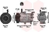 Aire acondicionado AC aire acondicionado bomba de enfriamiento de compresor VS12M fluidec para HYUNDAI ELANTRA MD UD 1 6 977013X000 97701-3X000