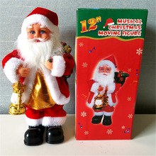 2020 Funny Christmas Gift Electric Music Santa Claus Doll Children's Toy Christmas Tree Ornaments Party Kids Gifts
