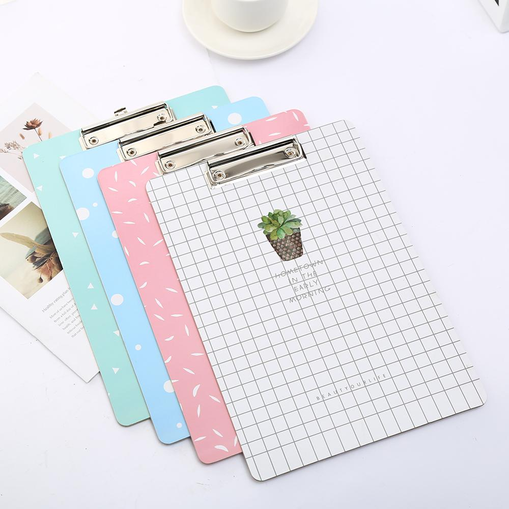 Wood Cute Cactus Clipboard Kawai Stationery Writing Pad Clip Board School Office Accessory Stationary Supply Exam File Thing Kit