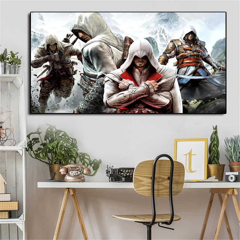 Hd Print Anime Lukisan Kanvas Gambar Assassins Creed Poster