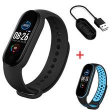 Смарт-часы M5 смарт-браслет спортивный фитнес-трекер Шагомер пульсометр тонометр Bluetooth браслет для мужчин и женщин