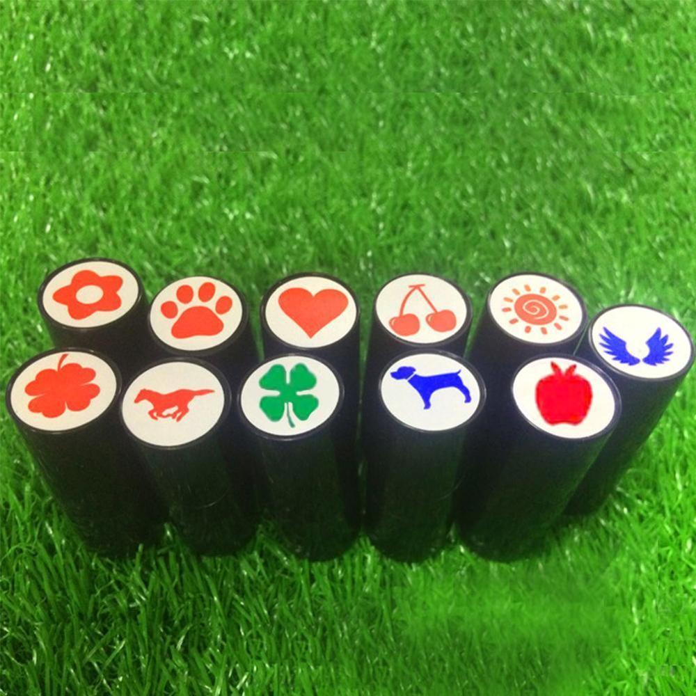 1pc Plastic + Silicone Golf Ball Stamper Stamp Seal Impression Marker Print Gift Prize For Golfer