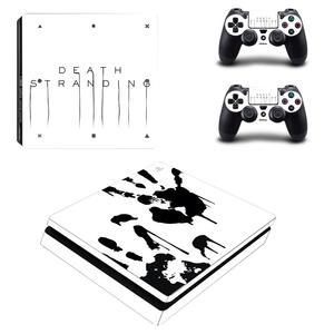 Image 2 - Наклейка Kojima Game Death Stranding PS4 Slim, Виниловая наклейка для консоли Playstation 4 и контроллеров PS4, наклейка Slim Skin