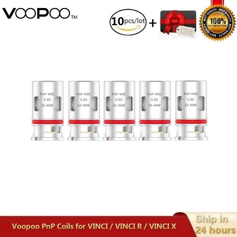 5~10pcs/lot Original VOOPOO Pnp Core PnP-VM1 Mesh Vape Core PnP-VM3 0.45ohm PnP-VM4 0.6ohm For Voopoo VINCI VINCI R VINCI Kit
