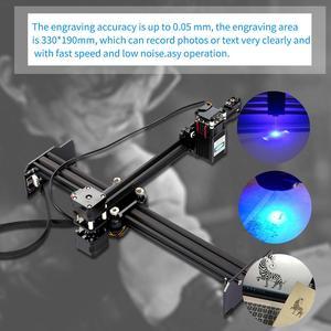 Image 1 - UE 20W 405nm/445nm del Laser di CNC Incisione Del Desktop Ad Alta Velocità Laser Incisore Stampante Domestica di Arte Del Mestiere Incisione FAI DA TE taglierina