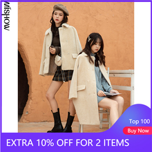 MISHOW 2020 Winter Wool Coats For Women Casual Solid Outdoor Warm Clothing Turn Down Collar Female Jackets MX20D9783