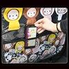 Cute Children Car Rear Seat Protector Cartoon Monkey Car Seat Back Cover Protector for Kids Baby Anti Kick Mat Pad Storage Bag promo