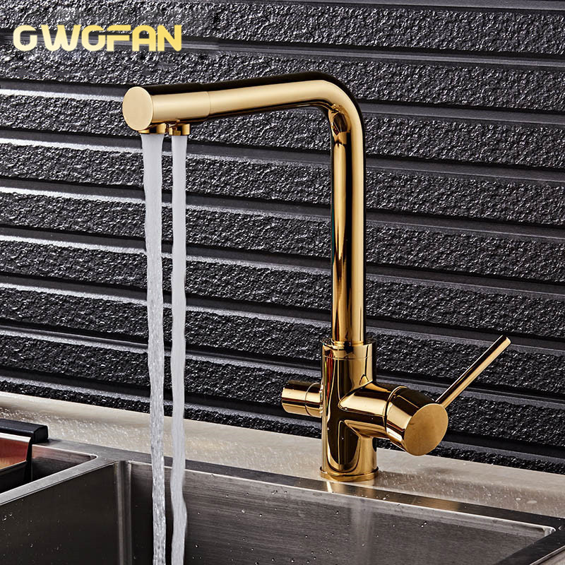 Filter Kitchen Faucets Deck Mounted Mixer Tap 360 Rotation With Water Purification Features Mixer Tap Crane For Kitchen N22-072