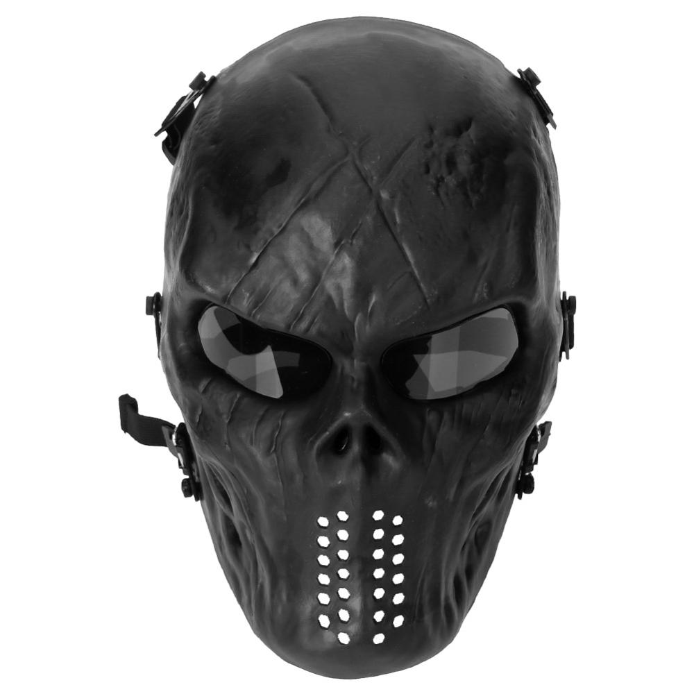 Shock Resistant PC Lens Skull Paintball Games CS Field Face Mask Hunting Military Tactical Cycling Full Face Protection Masks