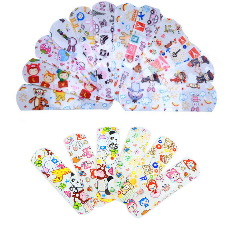 200PCs Cute Cartoon Band Aid Adhesive Bandages Waterproof Breathable First Aid Emergency Kit For Kids