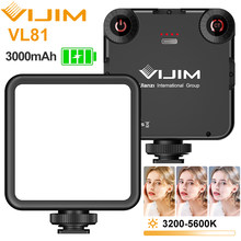 Ulanzi vl81 3200k-5600k 850lm 6.5w conduziu a luz de vídeo com sapata fria mini vlog luz de preenchimento 3000mah bateria câmera luz stepless