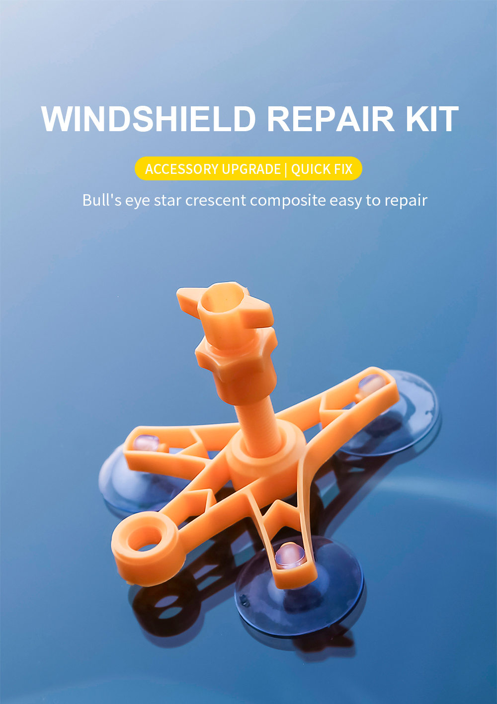 Windshield Repair Kit to Restore Car Glass Scratch and Crack with Polishing Sealer 6