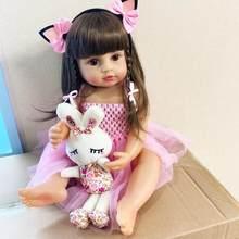NPK – poupée bébé Reborn originale en Silicone pour fille, 55CM, taille réelle, princesse, bain, très corps, jouet doux, surprix T9P4