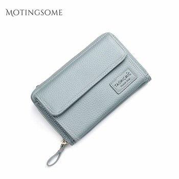 Fashion Long Style Women Wallets and Purses Leather Cell Phone Bag Coin Purses Large Card Holder Clutch Luxury Design 2020 New фото