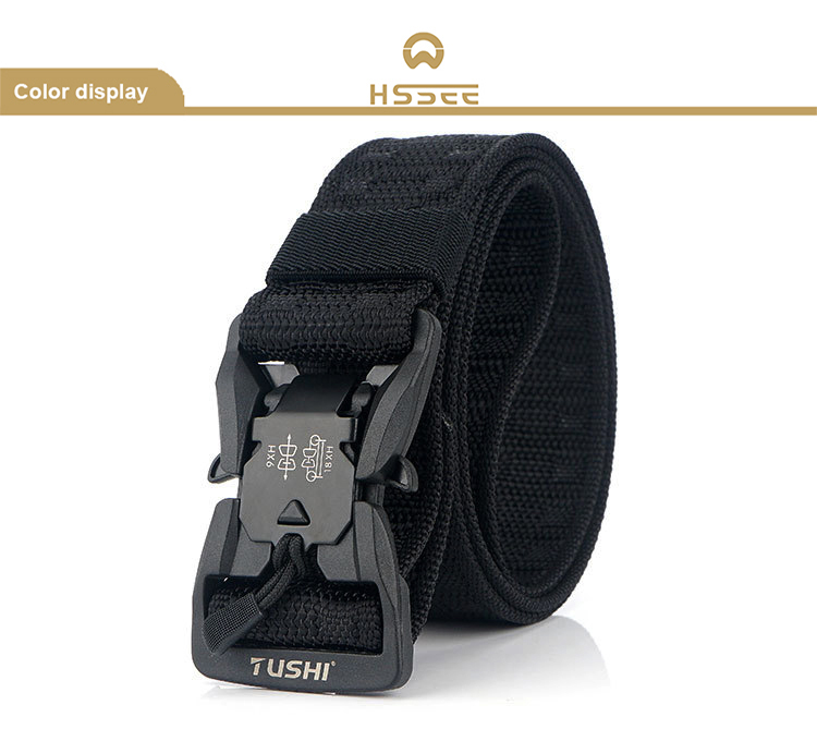 Hc166822374e54867b3f1078e589af3a9v - HSSEE Official Genuine Tactical Belt Hard ABS Quick Release Magnetic Buckle Military Belt Soft Real Nylon Sports Accessories