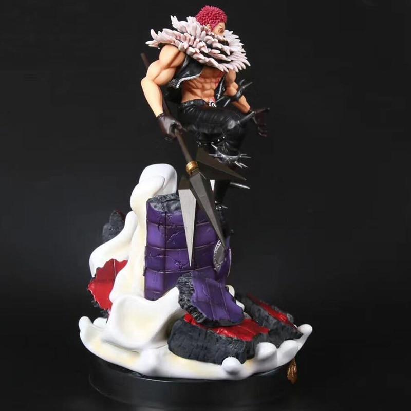 37cm Anime One Piece Katakuri GK Statue Figurine Charlotte Katakuri pvc Figure Model Toys Doll