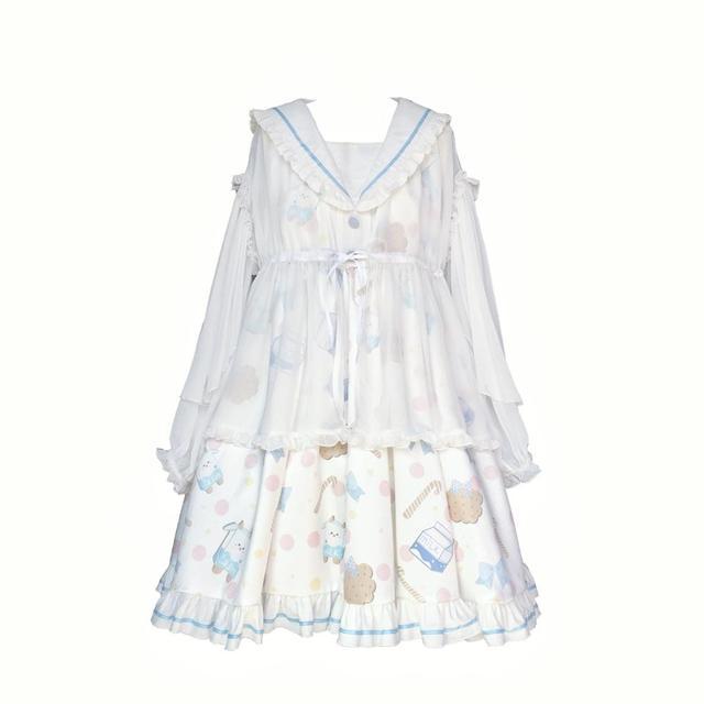 Купить kawaii/платье в стиле лолиты для девочек платье с матросским картинки цена