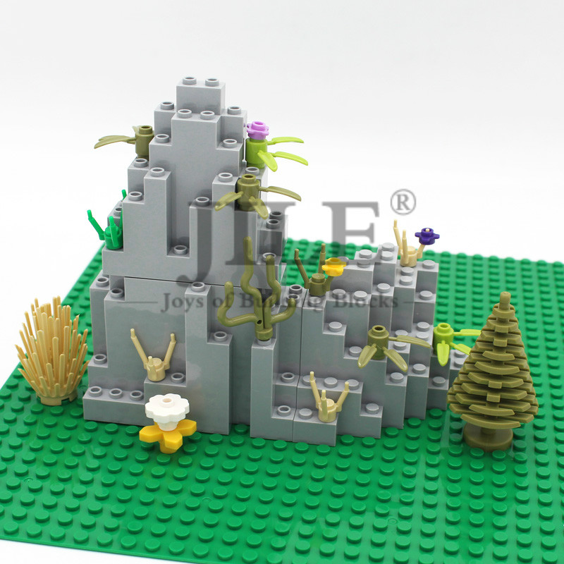 Moc Rock Panel Rockery Mountain DIY City Street View Bulk Building Blocks Bricks Set Compatible With Assembles Particles Toys