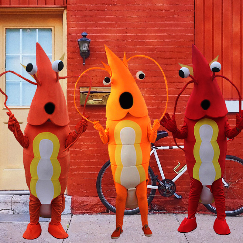 Adult Shrimp Mascot Costume Lobster Langouste Party Game Outfits Crawfish Dress Halloween Event Unisex Cartoon Apparel Cosplay