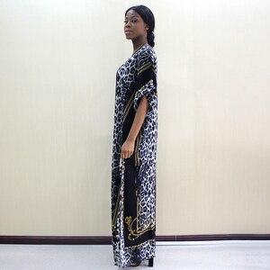 Image 4 - 2019 Fashion Dashiki African Dresses For Women Leopard Print Cotton Dashiki Casual Dresses