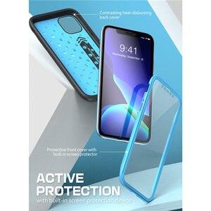 """Image 4 - IPhone 11 için 6.1 """"(2019) SUPCASE UB spor Premium hibrid sıvı silikon kauçuk + PC kapak ile ekran koruyucu"""