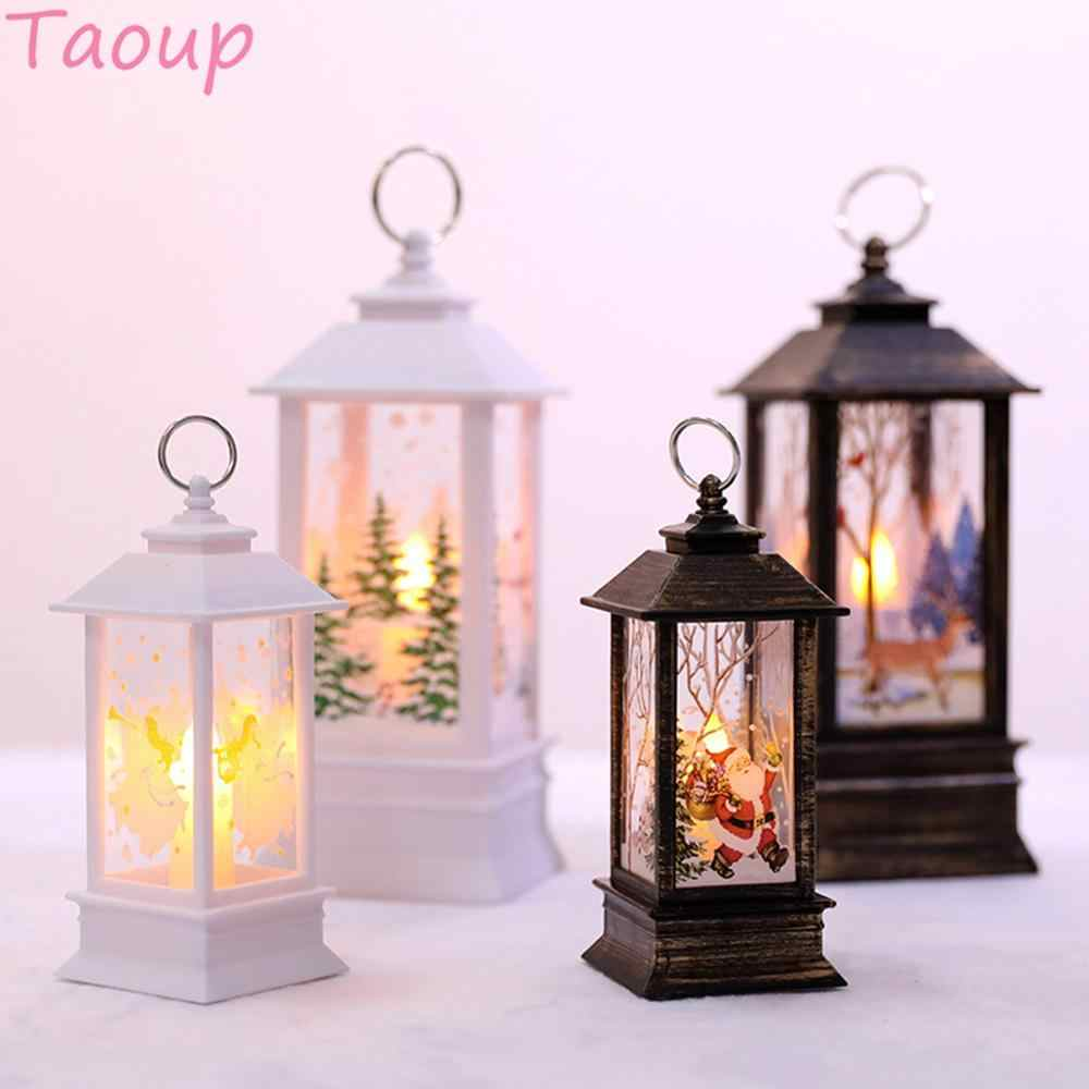 Taoup Merry Christmas LED Lights Pendants Drop Ornaments Christmas Table Decoration for Home Xmas Light LED Noel Decor Santa Hot