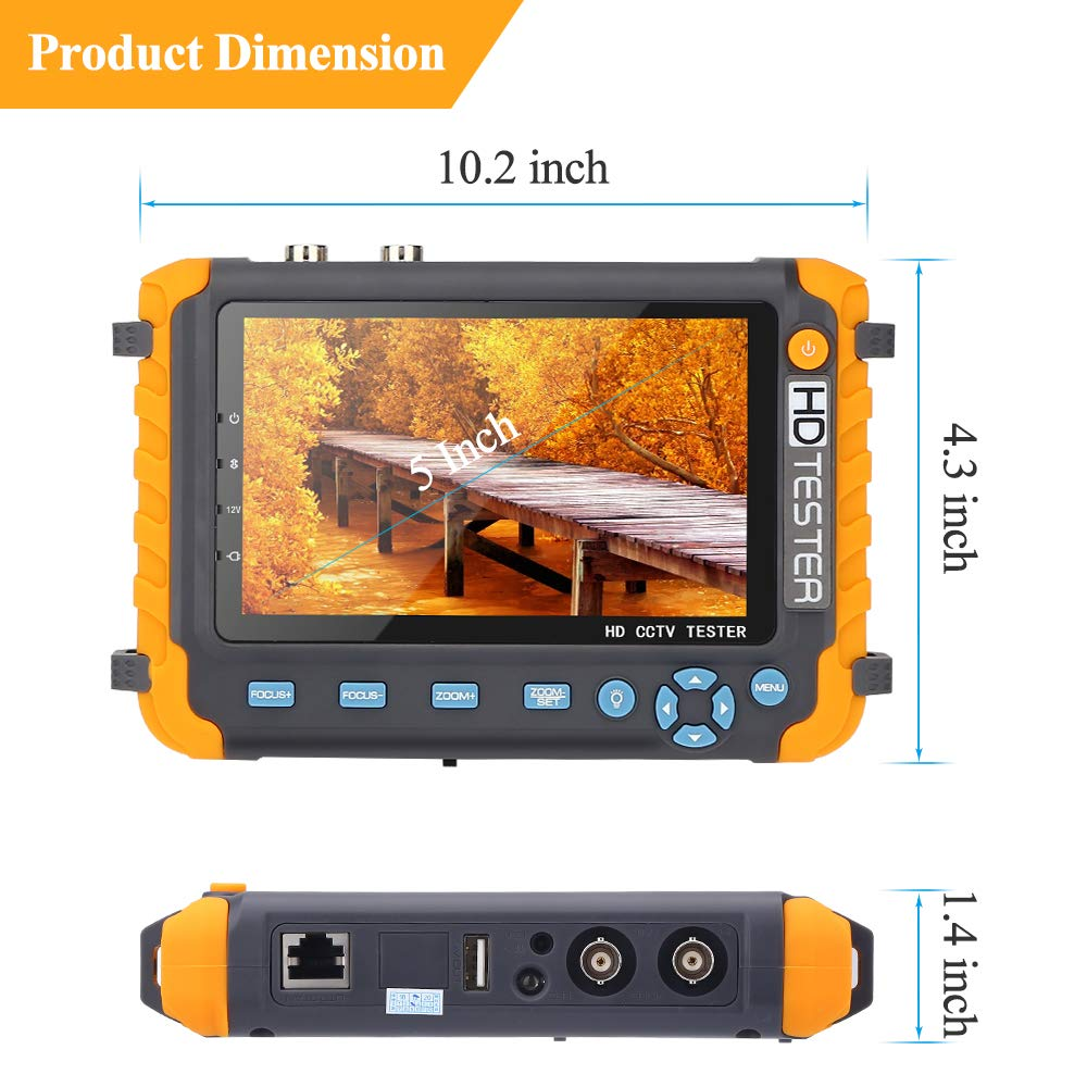 Image 5 - 5 Inch CCTV Tester Camera video tester ahd ip Video camera Tester mini ahd Monitor 4 in 1with VGA HDMI input security cameras-in CCTV Monitor & Display from Security & Protection