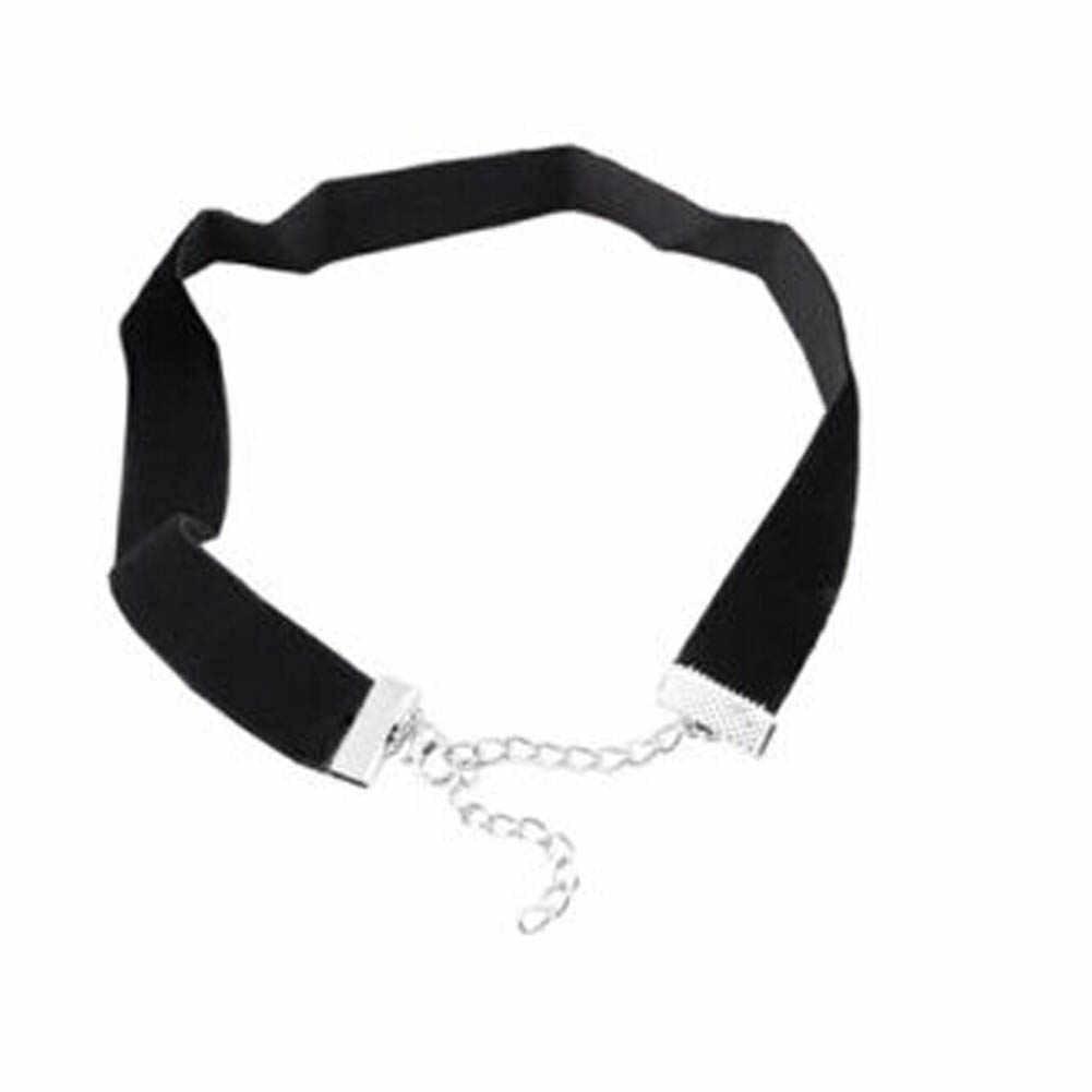 2018 Punk Gothic ลูกไม้สีดำกำมะหยี่สร้อยคอ Choker สร้อยคอสัก choker สร้อยคอสำหรับผู้หญิง Chocker collares mujer Collier Femme Bijoux