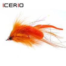 Icmônio iscas dragon tails mangum, 1 peça, streamer, água salgada, baixo, músculo, iscas para pesca com mosca